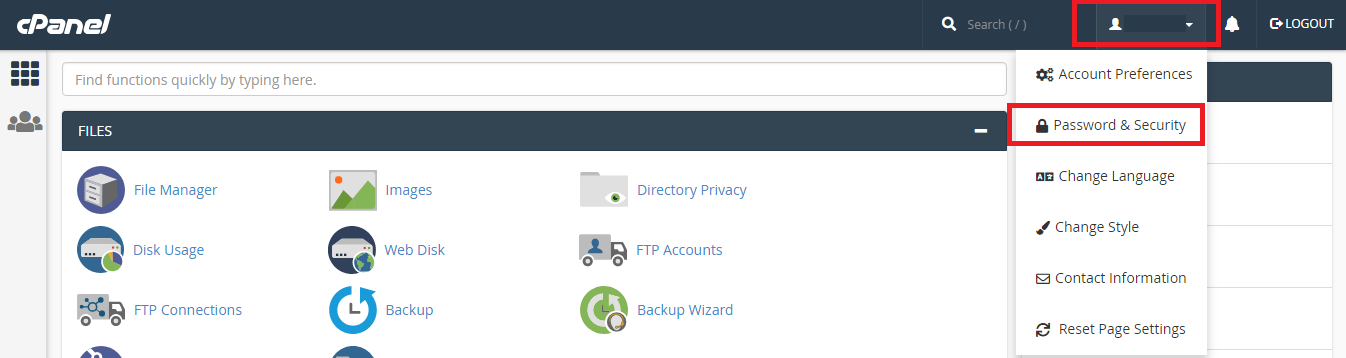 cpanel-password-reset